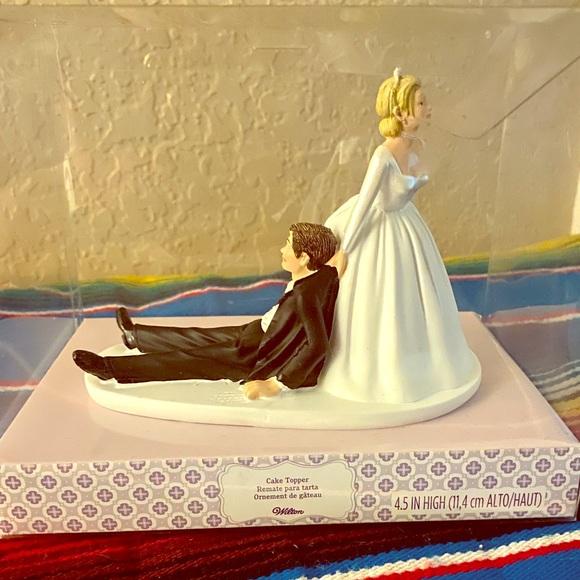 Wilton Party Supplies Bride Pulling Groom Cake Topper Poshmark